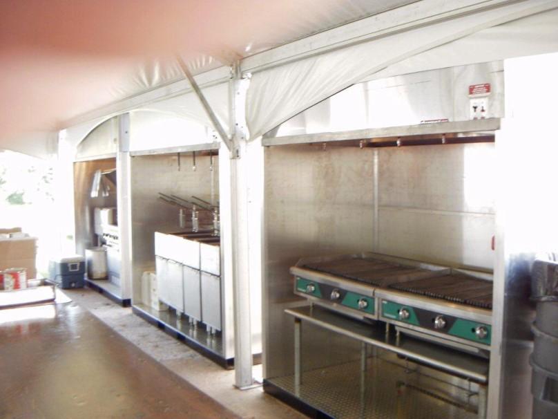 Tented Kitchen w Skid Kitchens Front