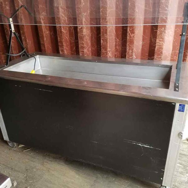 4 well refrigerated buffet table