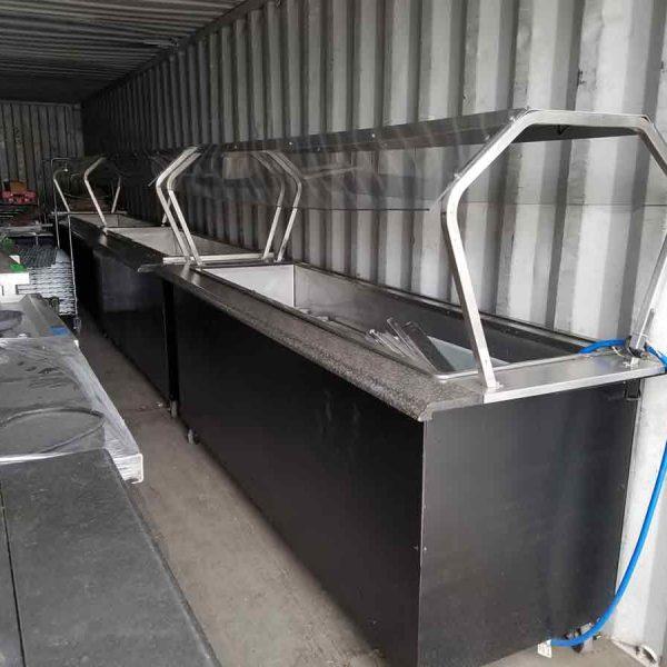 6 well refrigerated buffet bar