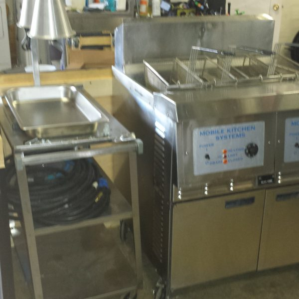 2 basin full size fryer with surround