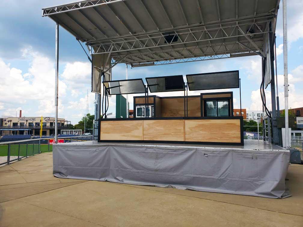 Custom setup at blended festival in Nashville Tennessee